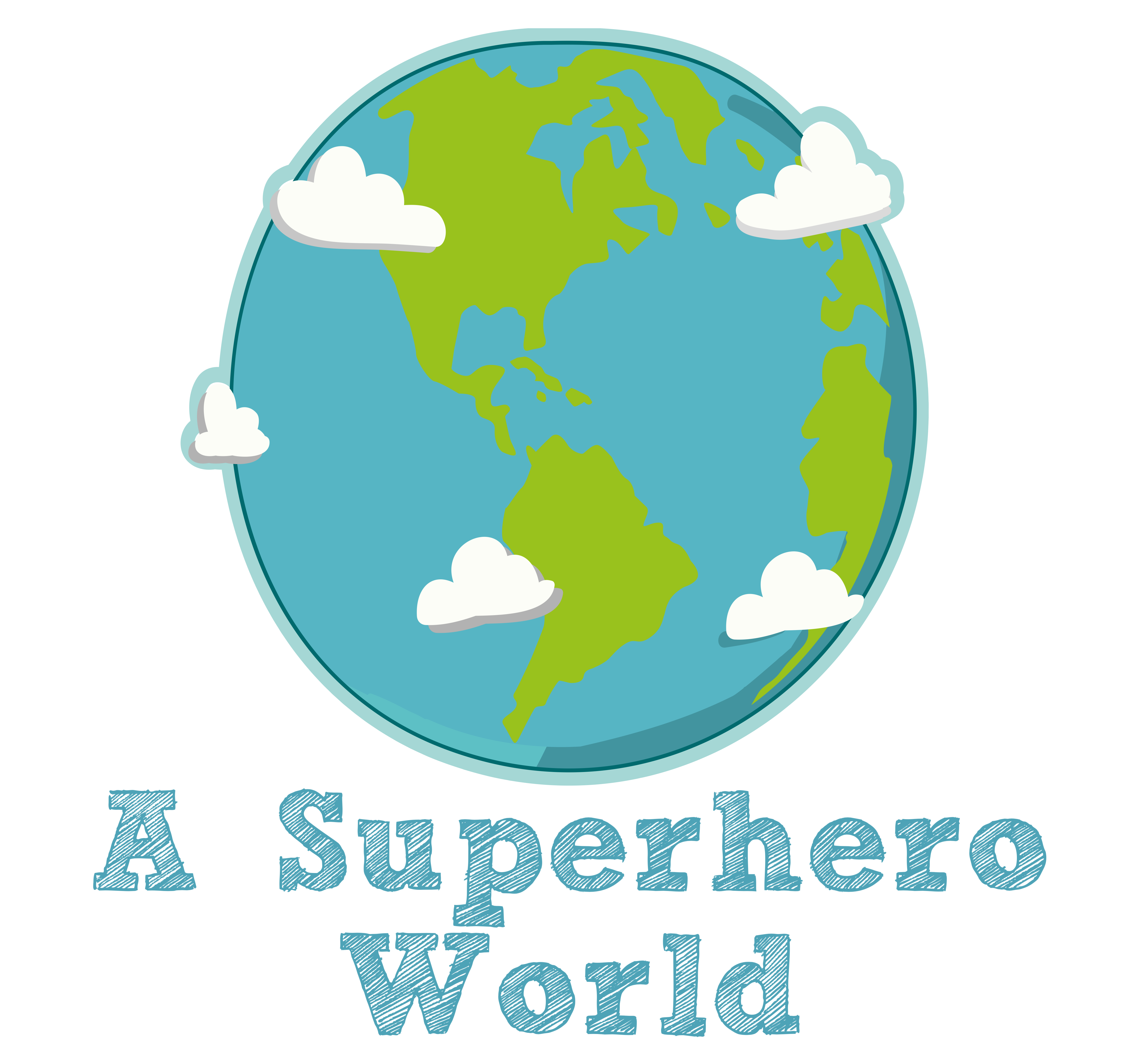A Superhero World Logo